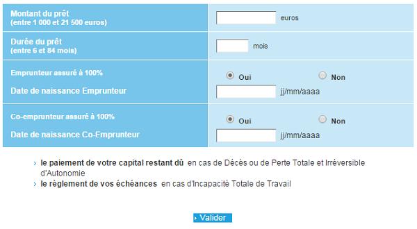 simulation rachat de credit Banque Populaire