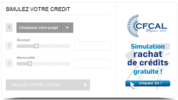 simulation rachat de credit CFCAL Banque
