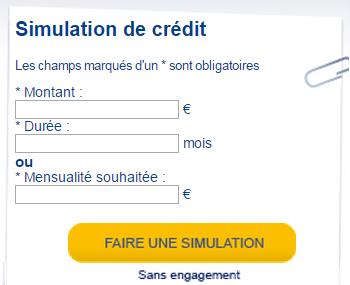 simulation de crédit facet