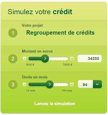 simulation rachat de crédit banque casino