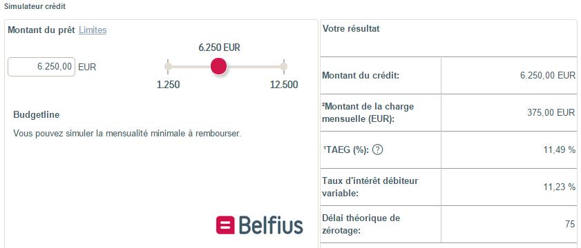 simulation rachat de credit Belfius