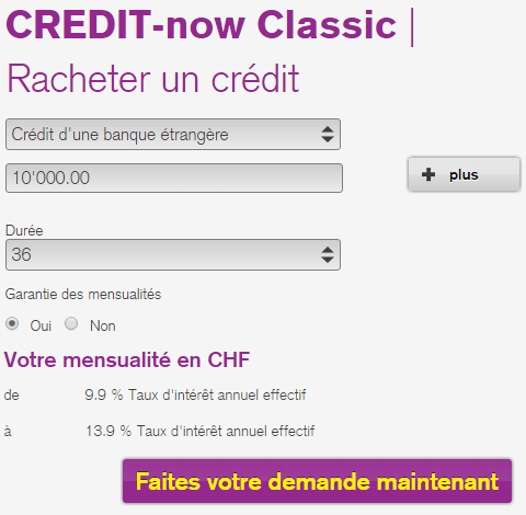 simulation rachat de credit Bank now