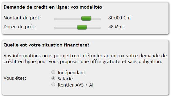 simulation rachat de credit CreditFlex