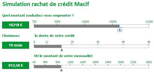 simulation rachat de crédit Macif