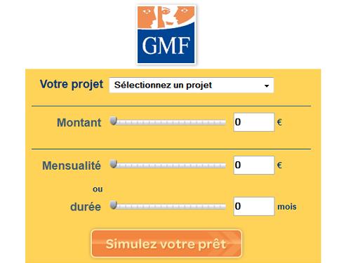 simulation rachat de credit GMF