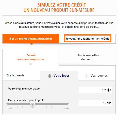 rachat de credit ING Direct
