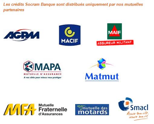 crédit socram banque partenaires