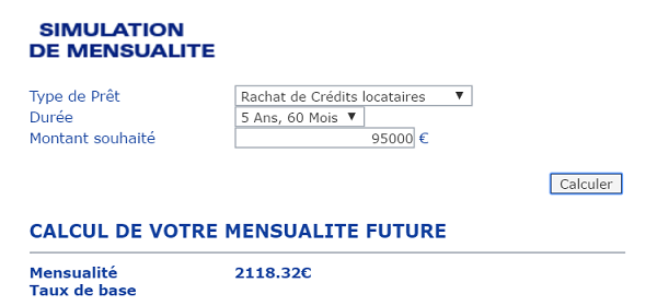 simulation rachat de credit Unifinance