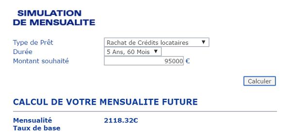 simulation rachat de credit Unifinance