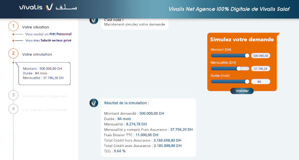 simulation rachat de credit Vivalis