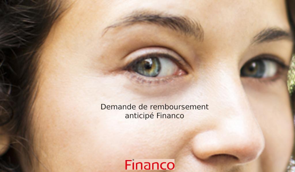 Remboursement anticipé Financo
